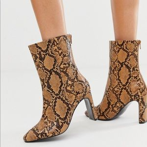 Brand new snake skin wide fit boots